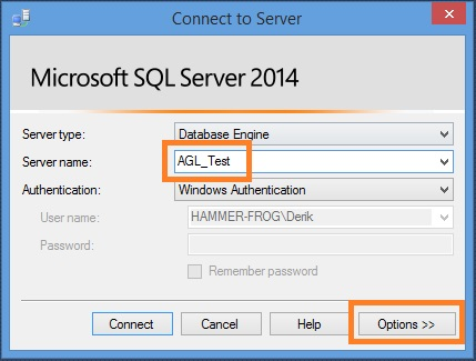 test sql server connection
